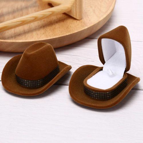 Cowboy Hat Ring Box Jewelry Holder