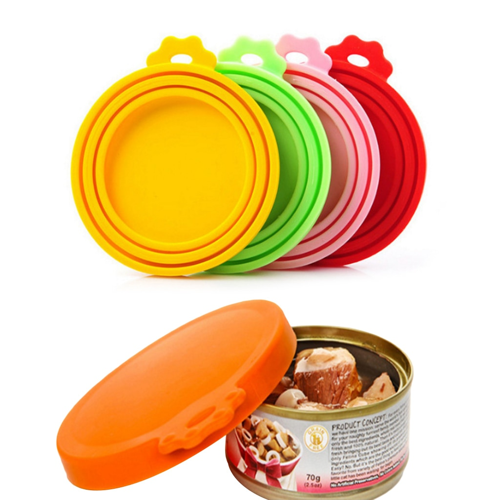 Portable Silicone Dog Cat Canned Lid Pet Food Cover Storage Fresh-keeping Lids