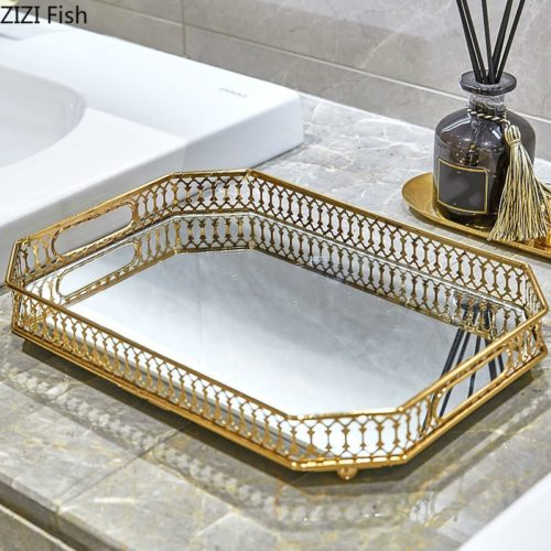 Mirror Tray Vintage Display Decor