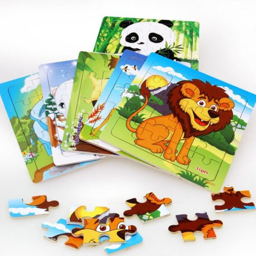 Wooden Animal Jigsaw Puzzle Educational Toy