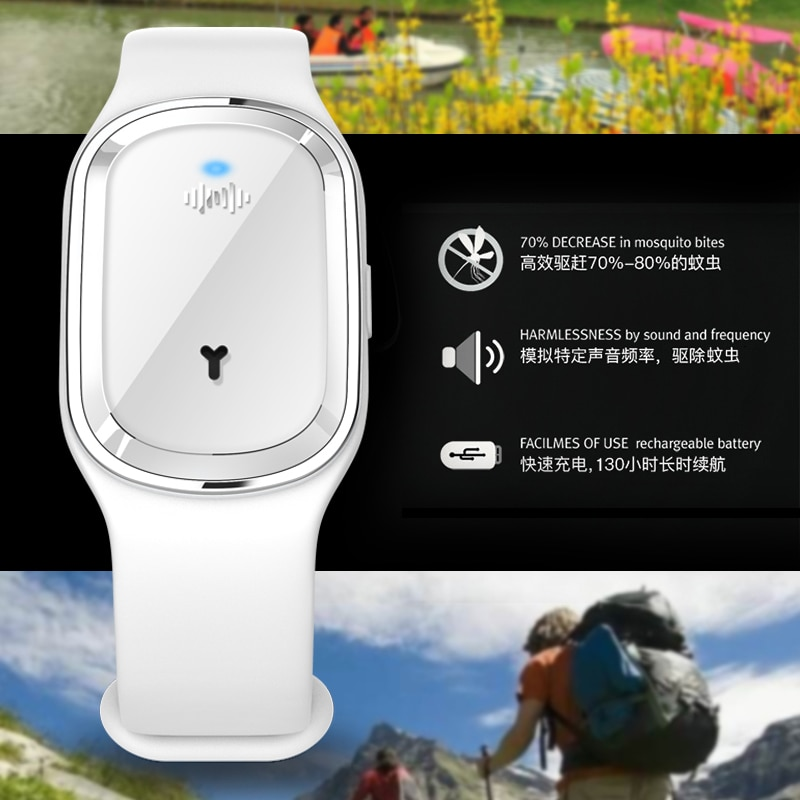 Mosquito Repellent Bracelet Kids Anti Mosquito Killer Ultrasonic Pest Insect Drive Wristband