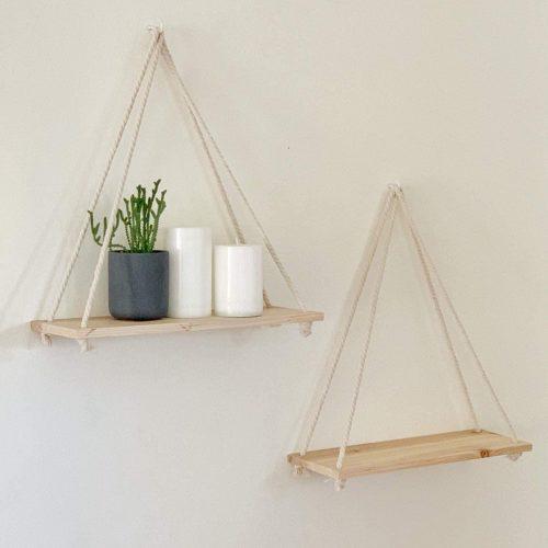 Wood-Hanging Shelf Wall Swing