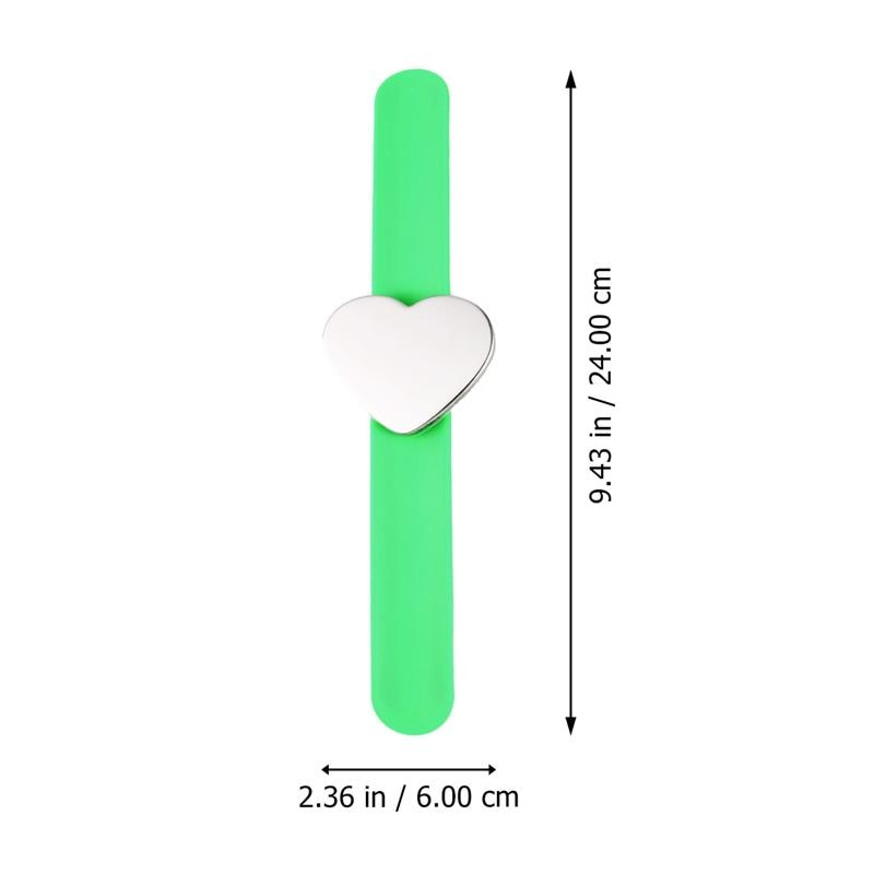 Magnetic Pin Bracelet Heart Shape Silicone Hand Band Wrist Strap Slap Bracelet Arm Pin Cushion Holder For Salon Hairstyling Clip