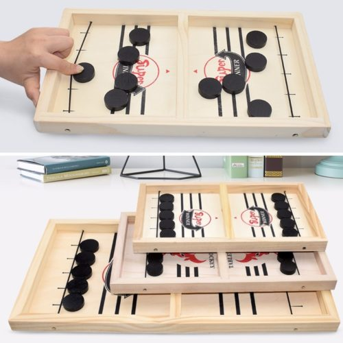 Wooden Table Hockey Interactive Board Game