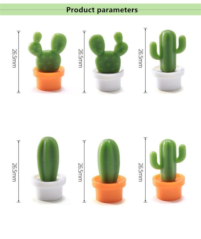 Succulent Magnets Fridge Decors (6 Pcs)