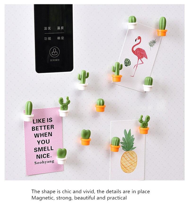 6pcs Cute Succulent Magnet Button Home Kitchen Cactus Refrigerator Message Sticker 2020 New Arrival Portable Creative Hot SaleM4
