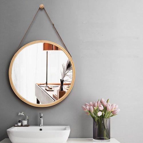 Minimalist Hanging Round Wall Mirror