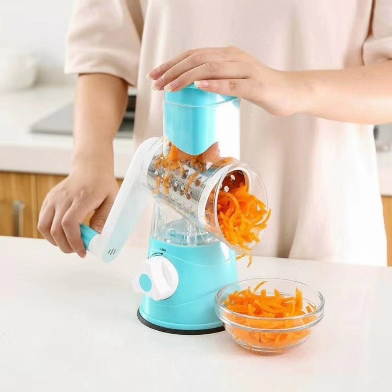 3 In 1 Manual Vegetable Cutter Slicer Multifunctional Round Mandoline Slicer Potato Cheese Kitchen Gadgets Kitchen Accessories