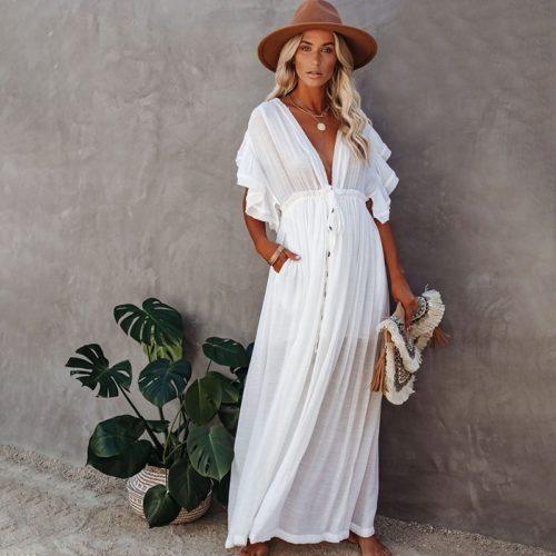 Long Bathing Suit Cover Ups Casual Beachwear