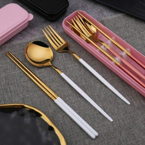 Portable Utensil Set 4-Piece Diningware