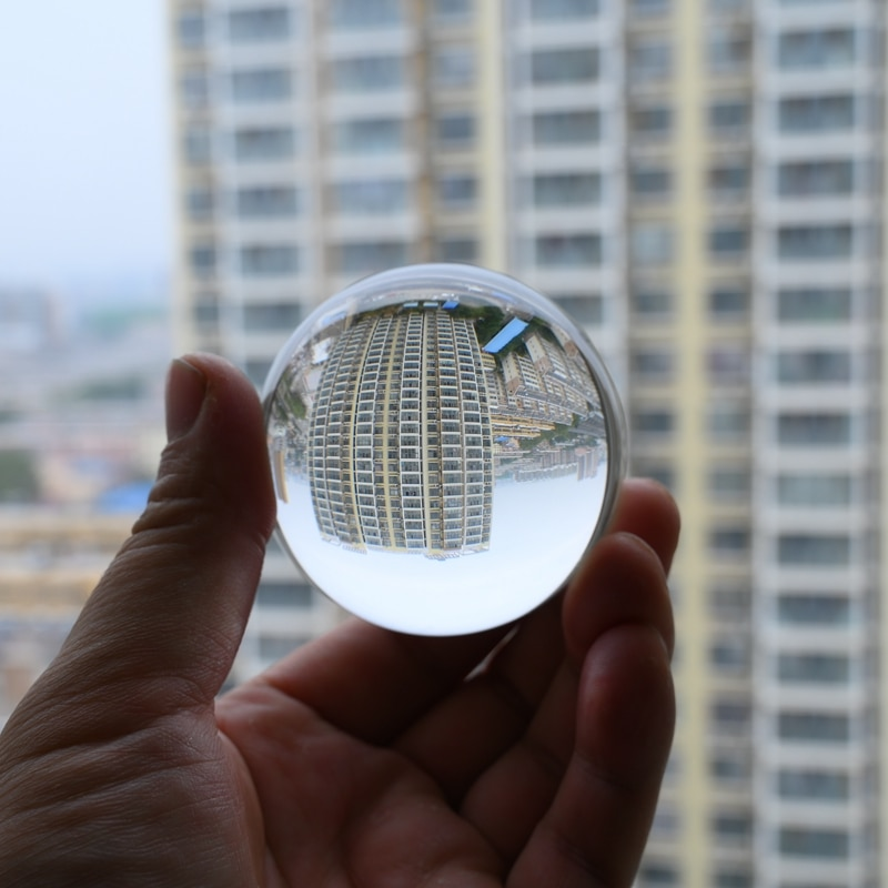 Crystal Ball Large Transparent Glass Ball Lucky Rainbow Photo Ball Decoration Ball