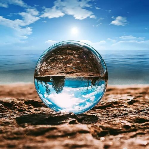 Transparent Crystal Ball For Photography