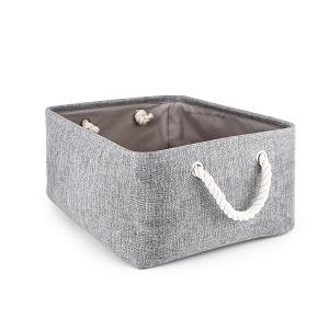 New Folding Storage Basket Foldable Linen Storage Box Bins Fabric Organizer Organize Office Bedroom Closet Toys Laundry Basket