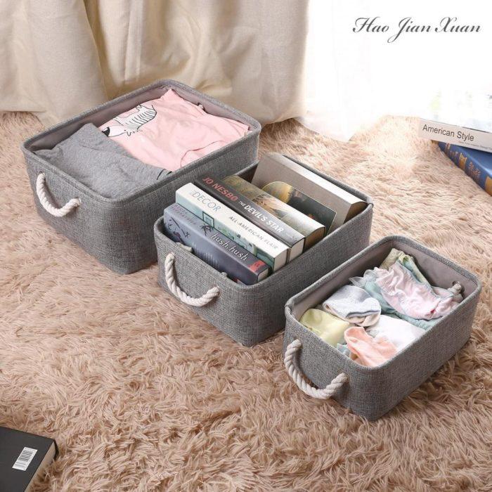 Cloth Storage Basket Linen Box
