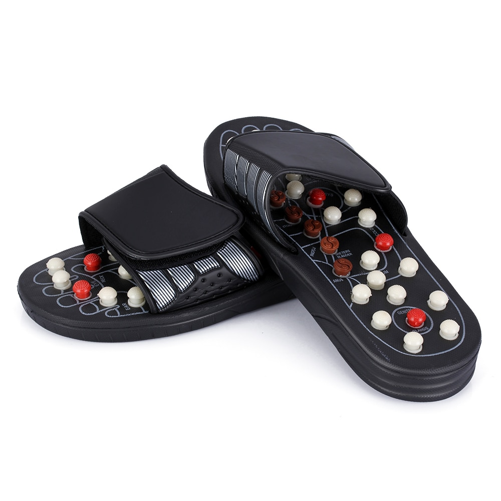 Feet Massage Slippers Foot Reflexology Acupuncture Therapy Massager Walk Stone Shoes Acupuncture Cobblestone Massageador Sandal