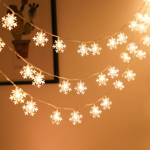 Snowflake String Lights LED Decor