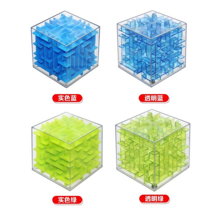 Maze Cube Transparent Puzzle Toy