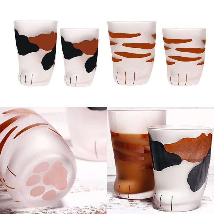 Cat Paw Cup Cute Drinking Glass