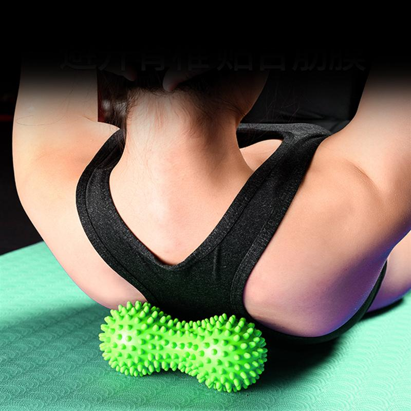 Foot Massage Roller Peanut Double Lacrosse Spiky Ball Myofascial Balls for Plantar Fasciitis Mobility Back Foot Arch Pain Relief
