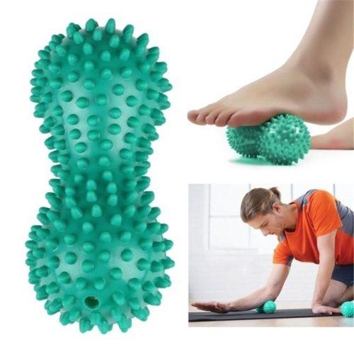Double Spiky Ball Peanut Massage Roller