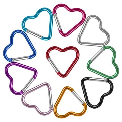 Heart Carabiners Keychain Hook Clips (3Pcs.)