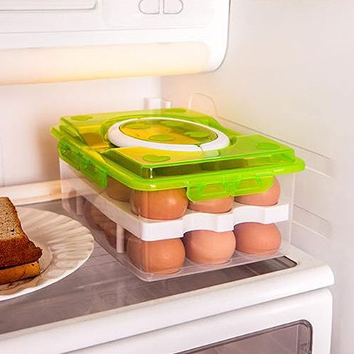 24 Grids Plastic Egg Container