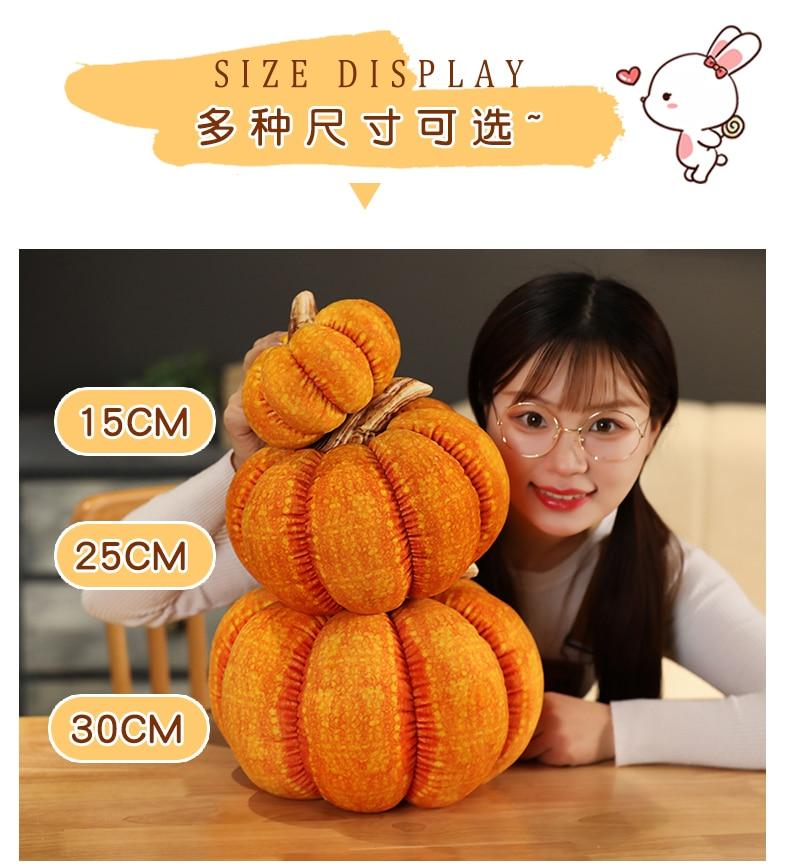 Simulation Pumpkin Plush Stuffed Toy Soft Vegetables Doll Sofa Cushaw Pillow Cushion Kids Halloween Christmas Gift Home Decor