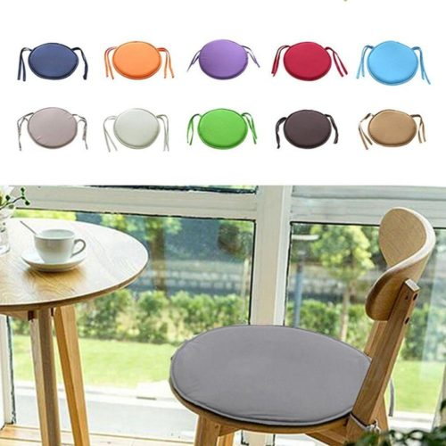 Round Chair Cushion Seat Pad with Straps