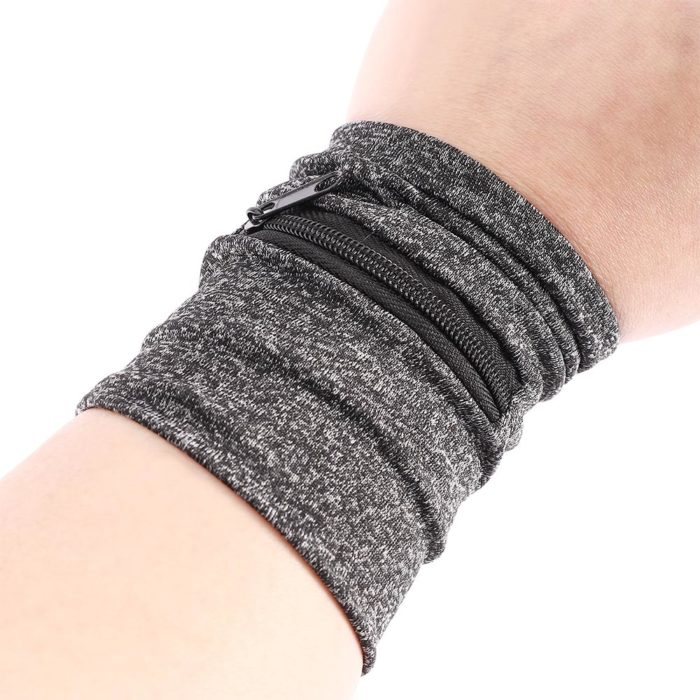Running Wrist Wallet Zipper Sweatband