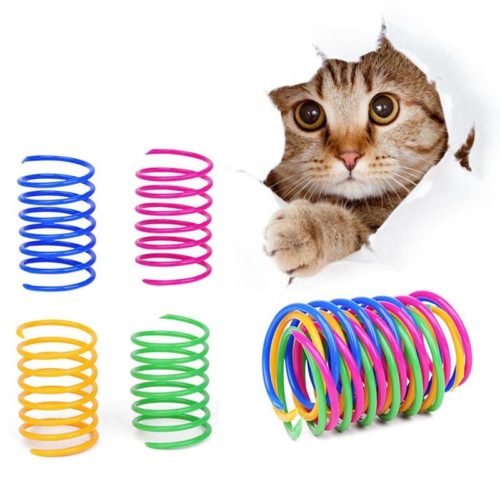 Cat Spring Toys Pet Interactive Coil