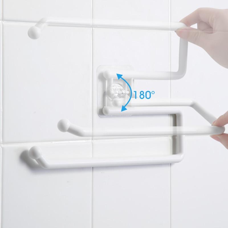 Kitchen Paper Roll Holder Towel Hanger Rack Bar Cabinet Rag Hanging Holder Shelf Toilet Paper Holders