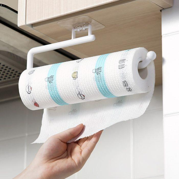 No-Drill Kitchen Tissue Roll Holder
