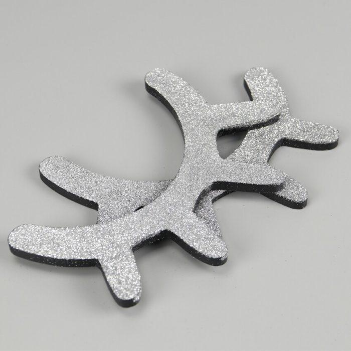 3D Wooden Unicorn Eyelashes Stickers