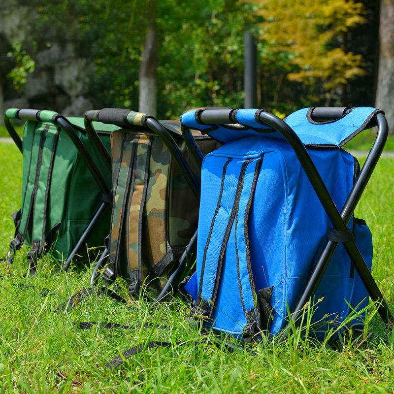Folding Camping Fishing Chair Stool Portable Backpack Cooler Insulated Picnic Bag Hiking Seat Table Bags Pesca Tackle Mochila