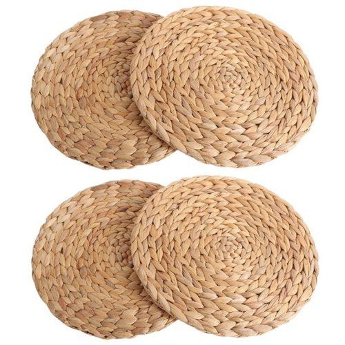 Reusable Natural Woven Placemats (4pcs)