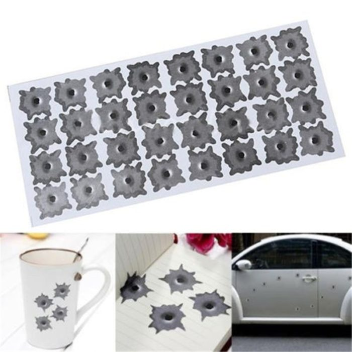 Bullet Hole Decals Realistic Stickers