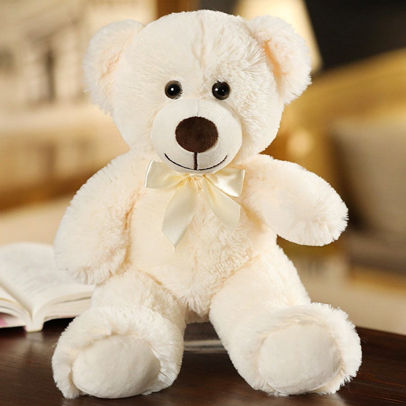 35CM Cute Colorful Bow Tie Bear Doll Plush Toy Hug Bear Doll Children Birthday Gift Pillow Teddy bear Home Living Room Bedroom