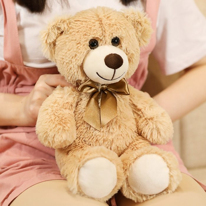 Huggable Teddy Bear With Bow Tie