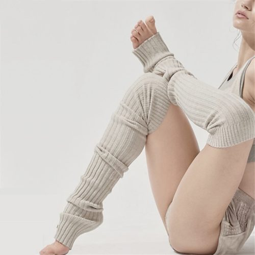 Extra Long Knitted Yoga Leg Warmer
