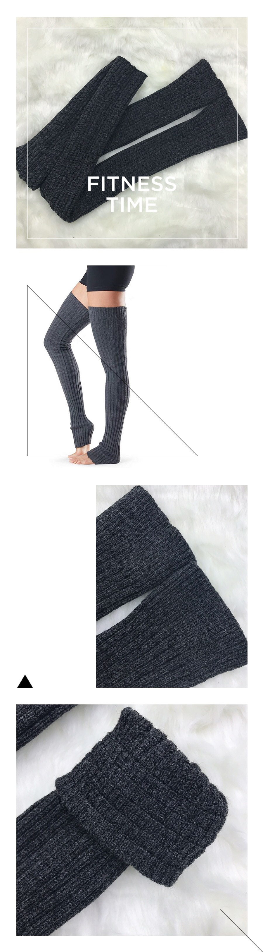 Women Thigh High Pirouette Leg Warmer For Woman Extra Long Boot Socks Over the Knee Cable Knit Yoga Dance Socks