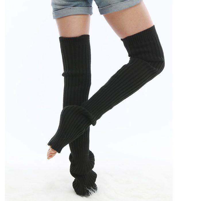 Extra Long Knitted Yoga Leg Warmer