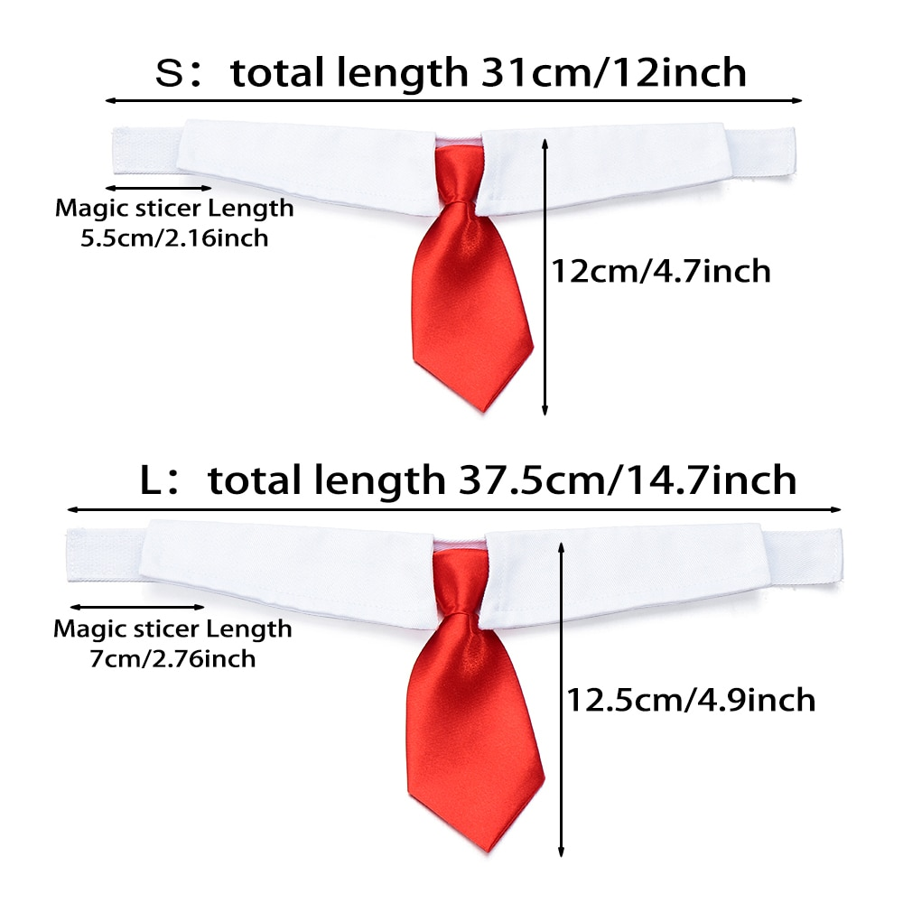 Pet Dog Cat Formal Necktie Tuxedo Bow Tie Black and Red Collar for Dog Cat Pet Accessories Suit for small medium dogs and cats