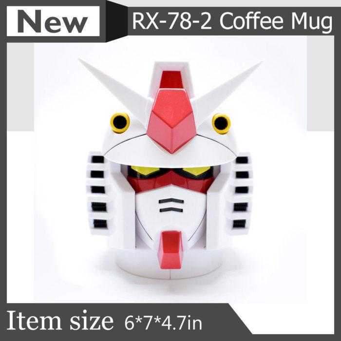 Plastic Head Gundam Mug with Stainless Steel Cup