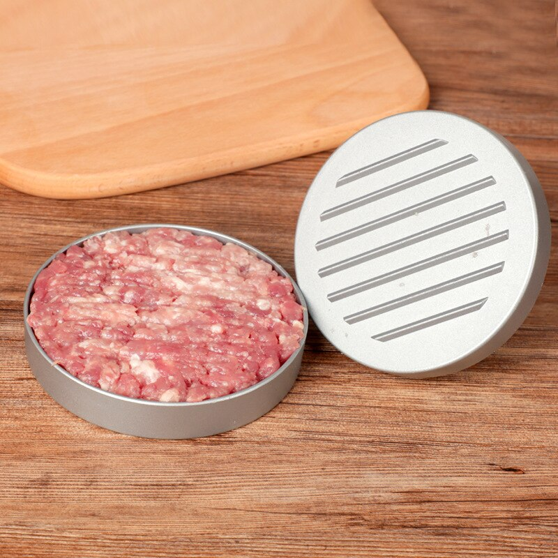 Round Shape Hamburger Press Aluminum Alloy + ABS Hamburger Meat Beef Grill Burger Press Patty Maker Mold Kitchen Meat Tools
