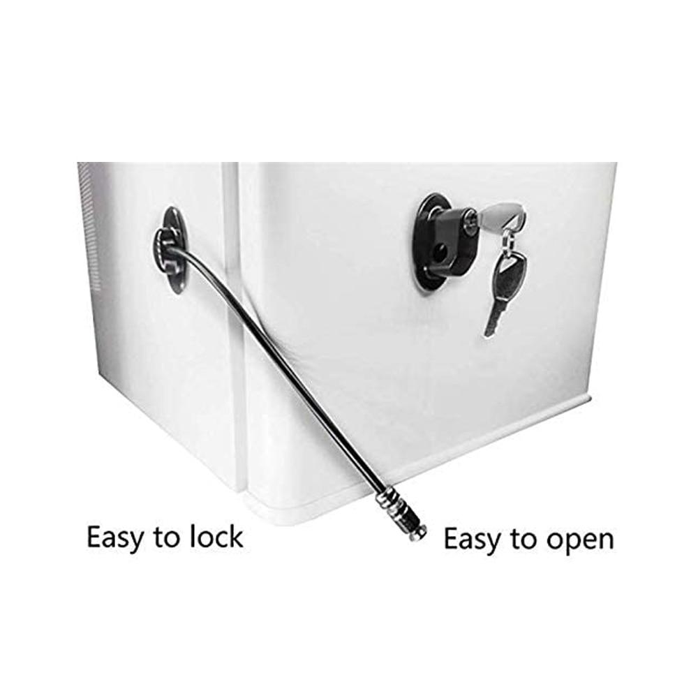Freezer Door Lock Cabinet Lock Strong Adhesive Lock, Window/Door Restrictor Cable,Refrigerator Lock, Baby/Toddler/Child Safety