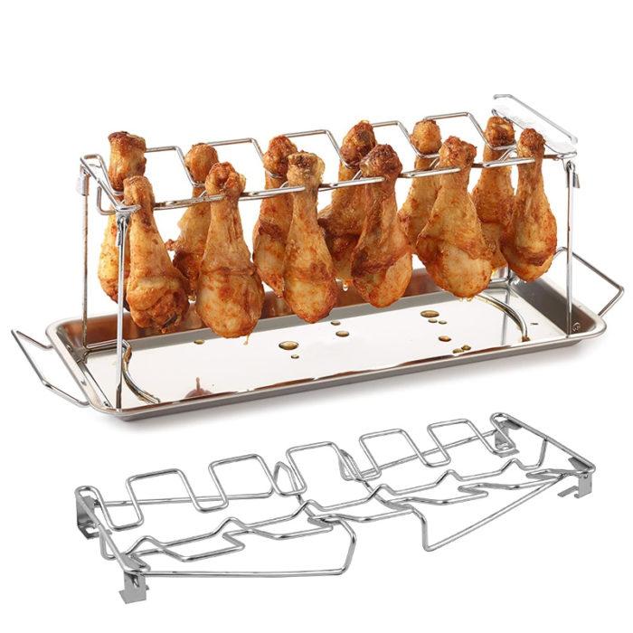 14 Grid Drumstick Rack Oven Griller