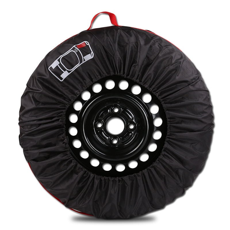 1pc/4pcs Car Spare Tire Cover Case Polyester Auto Wheel Tires Storage Bags Vehicle Tyre Accessories Dust-proof Protector Styling