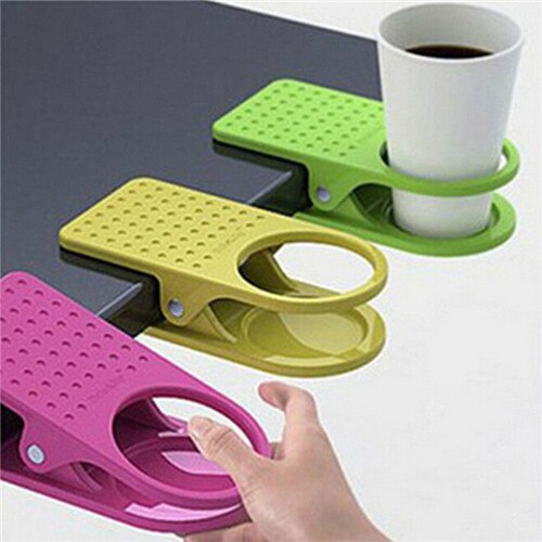 Office Home Drink Coffee Water Cup Holder Mug Rack Cradle Stand Clip Desk Table dropship jan17 Professiona