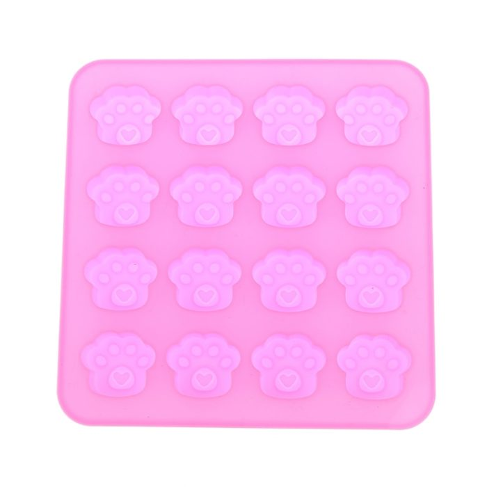 16-Holes Paw Print Silicone Mold