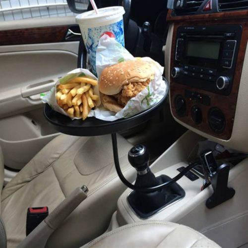 Clip-On Adjustable Car Tray Table